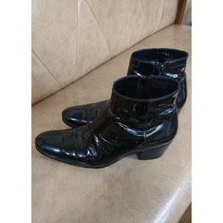 ディオールオム(DIOR HOMME)のor HOMEグラム期 2005AW エナメル レザー ヒールブーツ(ブーツ)
