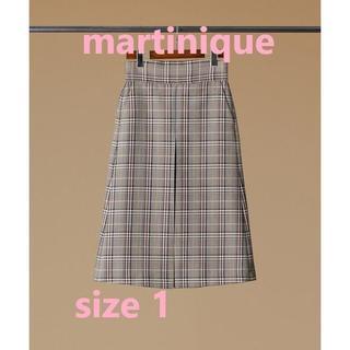 マルティニークルコント(martinique Le Conte)のお値下げ!マルティニーク チェックタックスカート(ロングスカート)