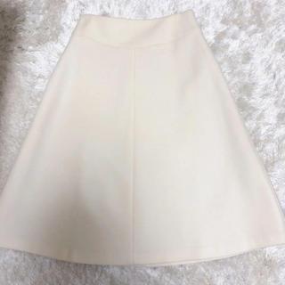 ユナイテッドアローズ(UNITED ARROWS)のcloset story スカート ホワイト(ひざ丈スカート)