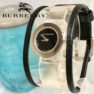 バーバリー(BURBERRY)の36 レディース腕時計 レザーバンド ブラック バーバリー時計 新品電池(腕時計)