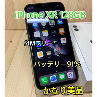 アップル(Apple)の【A】【かなり美品】iPhone XR 128 GB SIMフリー Black(スマートフォン本体)