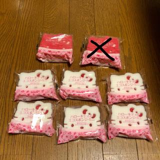 ハローキティ(ハローキティ)のハローキティ 台所スポンジとエコスポンジ 8個 ダスキン(収納/キッチン雑貨)