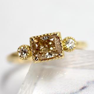 メイジュエリー 天然ライトブラウンダイヤモンド リング B26(リング(指輪))