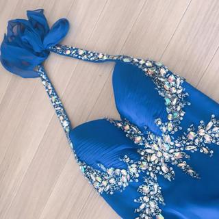 アンディ(Andy)のIRMA ロングドレス ブルー ビジュー party   (ロングドレス)