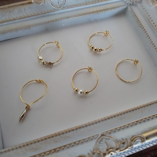 ジーナシス(JEANASIS)のワイヤーリング  5個セット(リング(指輪))