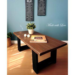 【木製/2色のセンターテーブル】アンティーク/組み立て/リビングテーブル(ローテーブル)