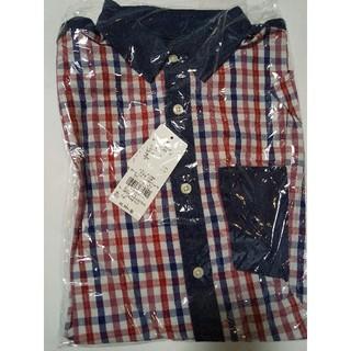 セブンデイズサンデイ(SEVENDAYS=SUNDAY)の新品 SEVENDAYS=SUNDAY メンズ デニム切替 長袖 チェックシャツ(シャツ)