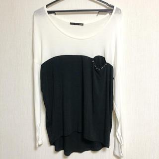 ヘザー(heather)のHeather バイカラー Tシャツ(Tシャツ(長袖/七分))