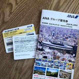 エーエヌエー(ゼンニッポンクウユ)(ANA(全日本空輸))のANA株主優待券(2枚)+割引冊子(航空券)
