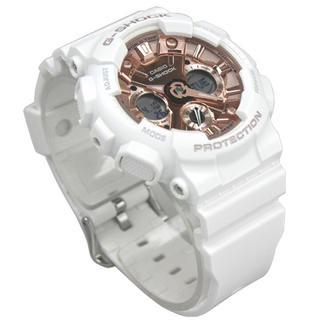 ジーショック(G-SHOCK)のG-shock CASIO カシオ 白 ホワイト ピンクゴールド 腕時計(腕時計(デジタル))