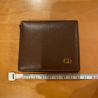 クリスチャンディオール(Christian Dior)のDIOR ディオール コインケース 折り財布 財布 レザー ブラウン(コインケース)
