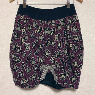 アナスイ(ANNA SUI)の【ANNA SUI】電話柄バルーンスカート(Mサイズ)(ひざ丈スカート)