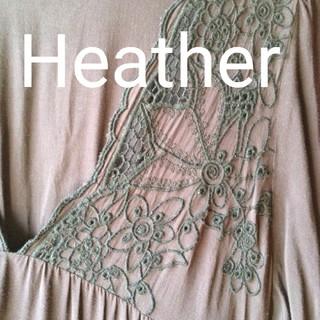 ヘザー(heather)の【夏物処分】ミニワンピ ネイビー チュニック(チュニック)