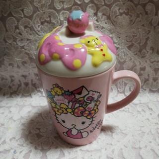 ハローキティ - ハローキティ♡マグカップ  フタ付き