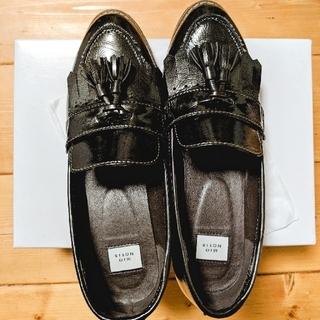 フリークスストア(FREAK'S STORE)のmionotis  タッセル ローファー ブラック(ローファー/革靴)
