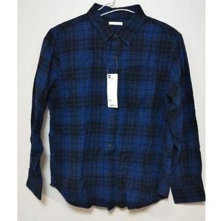 GU - 【新品完売品】GU フランネルチェックシャツ(長袖) 150