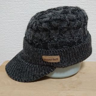 モンベル(mont bell)のmont-bellツバ付ニット帽 グレー系(ニット帽/ビーニー)