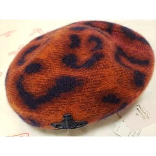 ヴィヴィアンウエストウッド(Vivienne Westwood)の🍁新作AW2021🐆レオパードベレー帽BR🐆帽子ヴィヴィアンウエストウッド(ハンチング/ベレー帽)