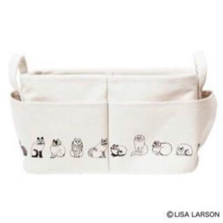 リサラーソン(Lisa Larson)のリサ・ラーソンの外ポケット付き収納ボックス(ケース/ボックス)