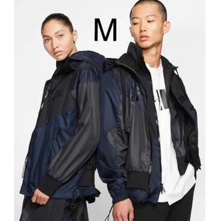 サカイ(sacai)のnike sacai hooded anorak jacket M navy(ナイロンジャケット)