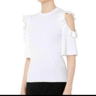 ルシェルブルー(LE CIEL BLEU)のLECIELBLUE ショルダーレスフリルトップス(シャツ/ブラウス(半袖/袖なし))
