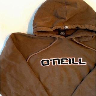 オニール(O'NEILL)の激レア ロシア製 オニール 刺繍ロゴ スウェットパーカー ブラウン 古着(パーカー)