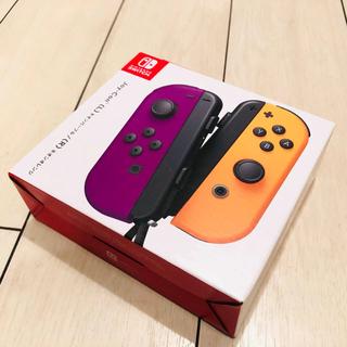 ニンテンドースイッチ(Nintendo Switch)の【新品未開封】任天堂 Switch ジョイコン ネオンパープル/ネオンオレンジ(家庭用ゲーム機本体)