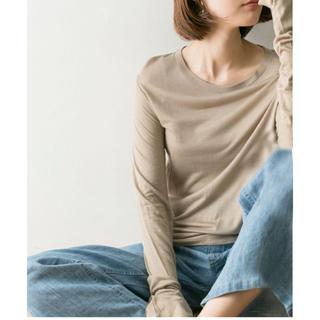 エディットフォールル(EDIT.FOR LULU)のbaserange bamboo long tee toffee モカベージュ(Tシャツ(半袖/袖なし))