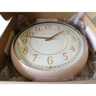 ローラアシュレイ(LAURA ASHLEY)の超特価品☆ローラアシュレイ ピンクレトロクロック 壁掛け時計(掛時計/柱時計)