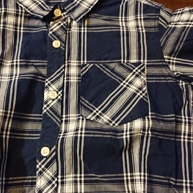 GU(ジーユー)の140 GU 長袖シャツ 2枚セット キッズ/ベビー/マタニティのキッズ服男の子用(90cm~)(ブラウス)の商品写真