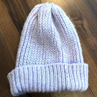 ジーナシス(JEANASIS)のJEANASIS パステルパープル ニット帽(ニット帽/ビーニー)