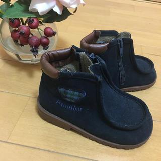 ファミリア(familiar)のファミリア☆14.5cm☆ショートブーツ☆チェック(ブーツ)