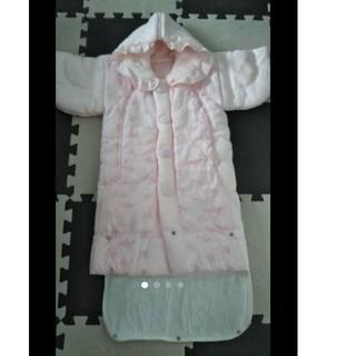 ミキハウス(mikihouse)のおくるみ 女の子 ベビー 赤ちゃん 退院 防寒 外出 綿100 %(セレモニードレス/スーツ)
