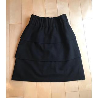 プーラフリーム(pour la frime)のプーラフリーム 黒スカート(ひざ丈スカート)