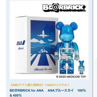 メディコムトイ(MEDICOM TOY)のBE@RBRICK for ANA  ANAブルースカイ 100%&400%(その他)
