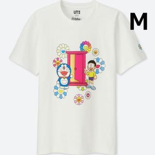 ユニクロ(UNIQLO)の新品タグ付 村上隆 × ドラえもん  Tシャツ ホワイト UT ユニクロ(Tシャツ/カットソー(半袖/袖なし))