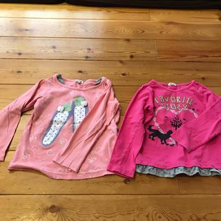ニッセン(ニッセン)の女の子 半袖Tシャツと長袖Tシャツのセット 4枚組(Tシャツ/カットソー)