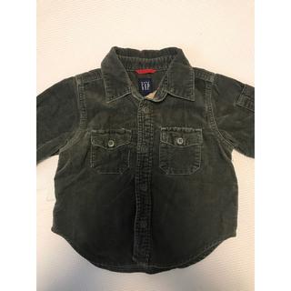 ベビーギャップ(babyGAP)の【美品】baby GAP サイズ90  コーデュロイシャツブラウン(Tシャツ/カットソー)
