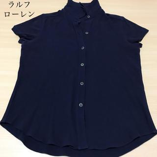 ラルフローレン(Ralph Lauren)のラルフローレン 半袖 シャツ カットソー  レディースM 綿100% 紺色(シャツ/ブラウス(半袖/袖なし))