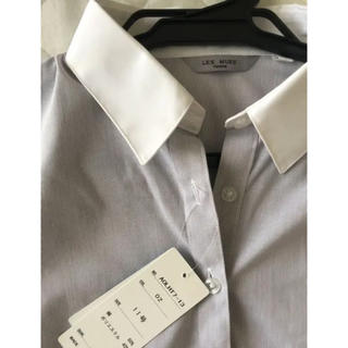 アオキ(AOKI)の【新品】LEPMUSE 半袖ワイシャツ ブルーストライプ 11号(シャツ/ブラウス(半袖/袖なし))