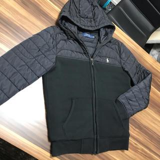 ポロラルフローレン(POLO RALPH LAUREN)のラルフローレン メンズ 切替 中綿 フード付き ジャケット Sサイズ ブラック(パーカー)