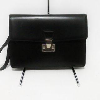 カルティエ(Cartier)のカルティエ セカンドバッグ - 黒 レザー(セカンドバッグ/クラッチバッグ)