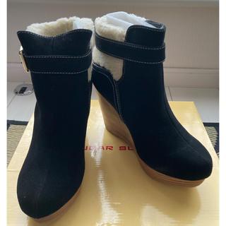 シュガーシュガー(Sugar Sugar)のYOU様専用 新品未使用 ウェッジソールショートブーツ(ブーツ)