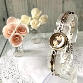 アガット(agete)の【電池交換済み】agete アガット 腕時計 ラウンド ブラウン シルバー(腕時計)