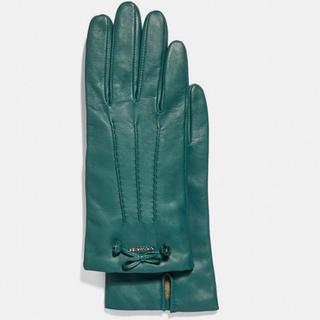 コーチ(COACH)の新品タグ付25,300円☆コーチ☆レザーグローブ☆おリボン(手袋)