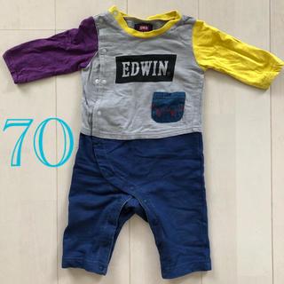 エドウィン(EDWIN)の最終値下げ EDWIN 長袖ロンパース 70(ロンパース)