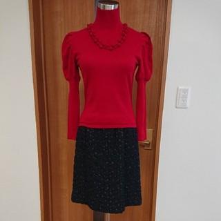 シビラ(Sybilla)のシビラ(未使用品)M ドットレースのスカート(ひざ丈スカート)