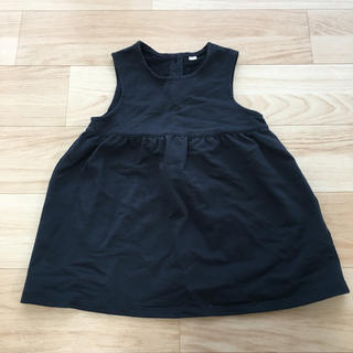 ムジルシリョウヒン(MUJI (無印良品))の無印良品 ジャンパースカート 80 ネイビー(スカート)