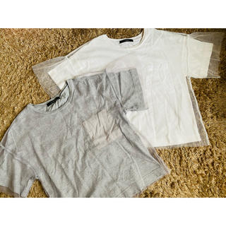 ダブルクローゼット(w closet)のw closet レースTシャツ 2枚セット(Tシャツ(半袖/袖なし))