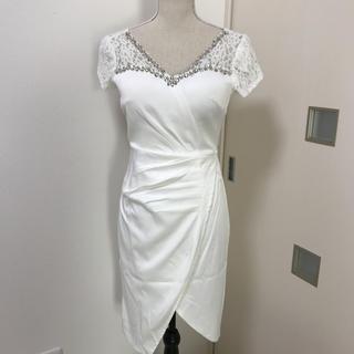 デイジーストア(dazzy store)のキャバドレス  ワンピース 丈長め 白(その他ドレス)